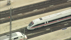 AERIAL Germany-Munich Train Station Stock Footage