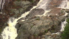AERIAL United States-Falls In Crawford Notch State Park Stock Footage
