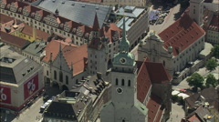 AERIAL Germany-Munich's Churches And Cathedral Stock Footage