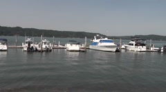 Pan Right to Left at Hood Canal Marina Stock Footage