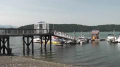 Hood Canal Marina Gangplank Stock Footage