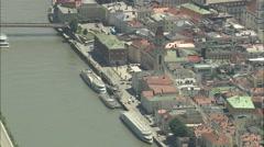 AERIAL Germany-Flight Across Passau - stock footage