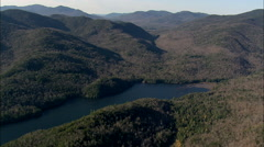 AERIAL United States-High Peaks In The Adirondacks 45 Stock Footage