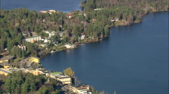 AERIAL United States-Lake Placid 45 Stock Footage