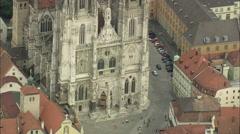 AERIAL Germany-Ratisbon Stock Footage