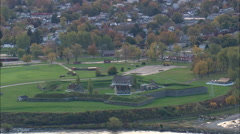 AERIAL United States-Oswego And Fort Ontario 45 Stock Footage