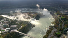 AERIAL United States-Viewing Platform In Niagara Falls State Park 45 Stock Footage