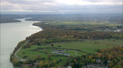 AERIAL Canada-Fort George In Canada 45 Stock Footage
