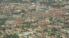 AERIAL Germany-Bayreuth Cathedral Stock Footage