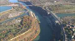 AERIAL United States-Hydroelectric Plants In Us And Canada 45 Stock Footage