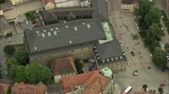 AERIAL Germany-Bayreuth Stock Footage