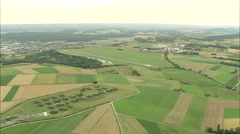 AERIAL Germany-Bayreuth Airport Stock Footage