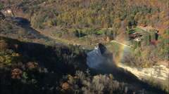 AERIAL United States-Middle Falls 75 - stock footage