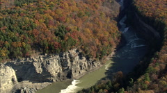 AERIAL United States-Winding River In Letchworth State Park 45 - stock footage