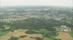 AERIAL Germany-Plauen Stock Footage