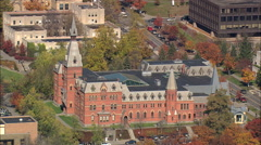 AERIAL United States-Cornell University 75 Stock Footage