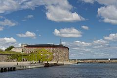 Stock Photo of Kungsholms Fort outer fortress UNESCO World Heritage Site Karlskrona naval base