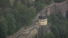 AERIAL Germany-Konigstein Castle Stock Footage