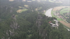 AERIAL Germany-Bastei Bridge - stock footage