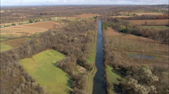 AERIAL United States-Flight Down Erie Canal 45 Stock Footage