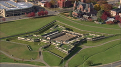 AERIAL United States-Fort Stanwix 75 - stock footage