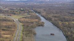 AERIAL United States-Tugboat In Lock 20 State Canal Park 60 Stock Footage