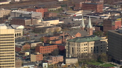 AERIAL United States-Utica 60 Stock Footage
