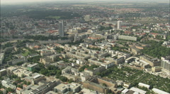 AERIAL Germany-Leipzig - City-Hochhaus Stock Footage