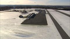 AERIAL United States-Covered Bridge 30 - stock footage