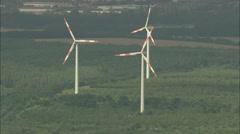 AERIAL Germany-Wind Turbines Near Zschornewitz Stock Footage