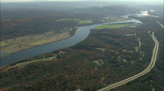 AERIAL United States-Connecticut River Stock Footage