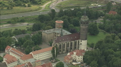 AERIAL Germany-Wittenberg - stock footage