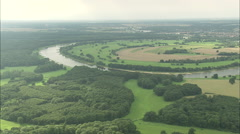 AERIAL Germany-River Elbe - stock footage