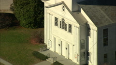 AERIAL United States-Hancock Meeting House - stock footage