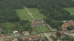 AERIAL Germany-Oranienbaum Palace Stock Footage