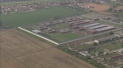 AERIAL Germany-Rassnitz Youth Prison Stock Footage