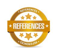 References seal sign concept Stock Photos