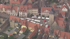 Freyburg And Neuenburg Castle Stock Footage