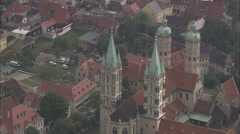 AERIAL Germany-Naumburg Town And Street Market Stock Footage
