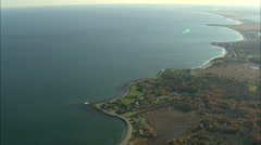 AERIAL United States-High Over New Hampshire Coastline Stock Footage