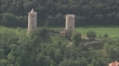 AERIAL Germany-Saaleck And Castles - stock footage