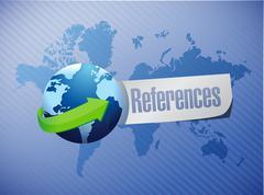 References globe sign concept Stock Photos