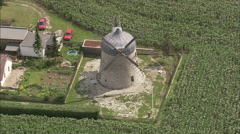 AERIAL Germany-Windmill Near Tultewitz Stock Footage