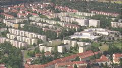 AERIAL Germany-Apolda And Plattenbau Public Housing Stock Footage