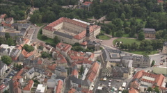 AERIAL Germany-Weimar City Palace Stock Footage