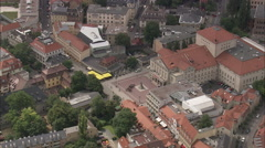 AERIAL Germany-Weimar National Theatre Stock Footage