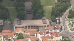 AERIAL Germany-Weimar Congress Centre Stock Footage