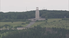 AERIAL Germany-Buchenwald Concentration Camp Stock Footage
