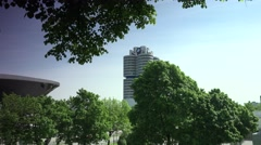 BMW headquarters building in Munich Stock Footage