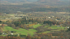 AERIAL United States-Schuylerville 20 Stock Footage